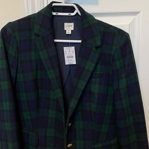 J. Crew Jackets & Coats - J. Crew Factory. Black Watch Blazer. Size 8. NWT